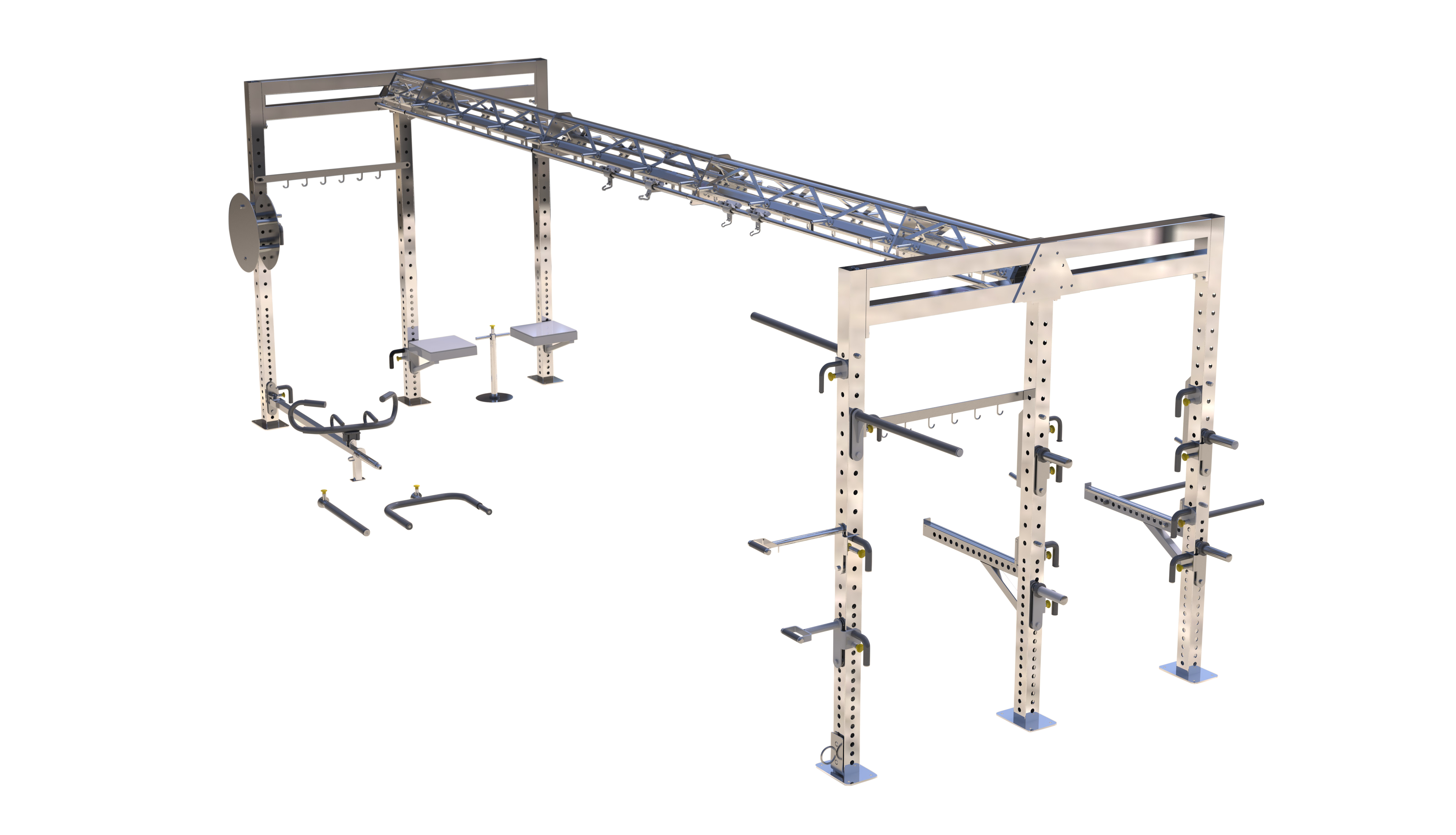 Functional Training Tri-Tower System with all accessories